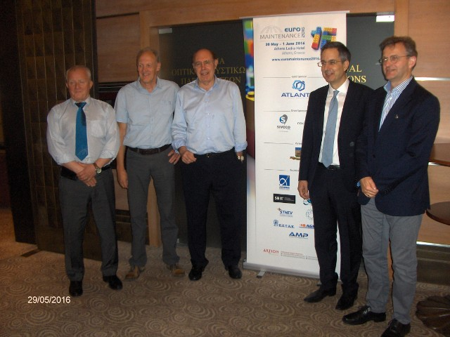 The board of Directors EFNMS.<BR>  From left: Per Schjolberg (NO), Herman Baets (BE), Franco Santini (IT), Cosmas Vamvalis (GR), David Merbecks (DE).