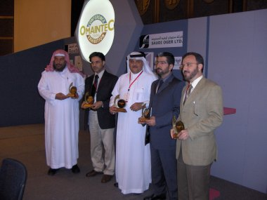 Recognition for the panel discussion:<BR>  Chairman Dr. Ibrahim Al Nasser, Saudi Arabia (left)