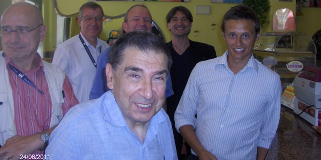 The group in good shape.<BR>  In front: Francesco Cangialosi, Former president AIMAN.