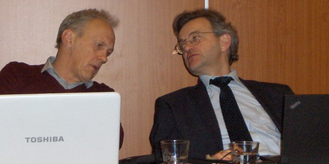 left: the Chairman Herman Baets (BE); right: David Merbecks (DE)