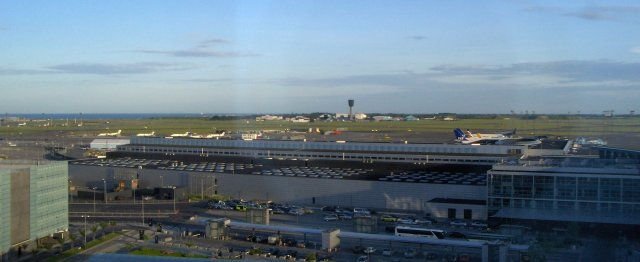 Copenhagen Airport, view from the meeting place