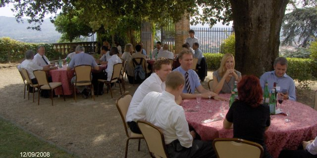 Lunch in the garden of Villa Montalto
