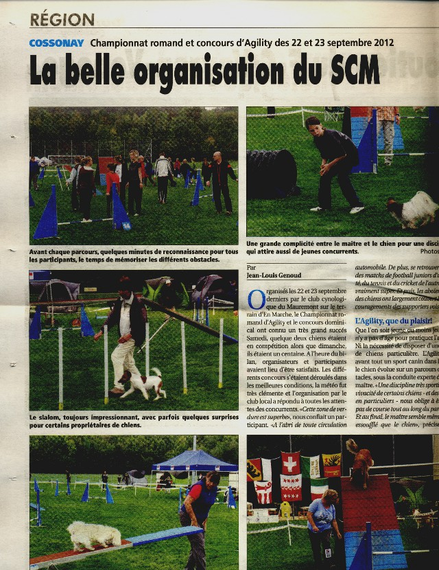Baika in the newspaper of Cossonay.