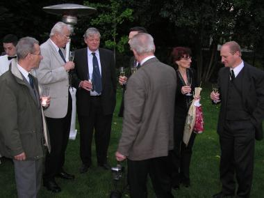 Garden party with Prof. Ing. Václav Legát,<BR>  Department for Quality and the Dependability of Machines,<BR>  Technical Faculty, CUA in Prague
