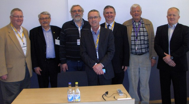 from left to right: 10:07 14.03.2014Tim Byrne (IE), Ingemar Andréason and Tomas Wallenberg (SE), Donal Nolan and Cathal O'Conaill (IE),<BR>  Guido Walt (CH) and Per Schjolberg (NO).