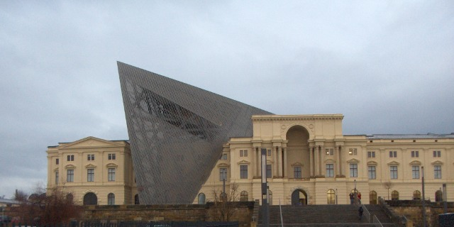 Military History Museum in Dresden, star architect Daniel Libeskind