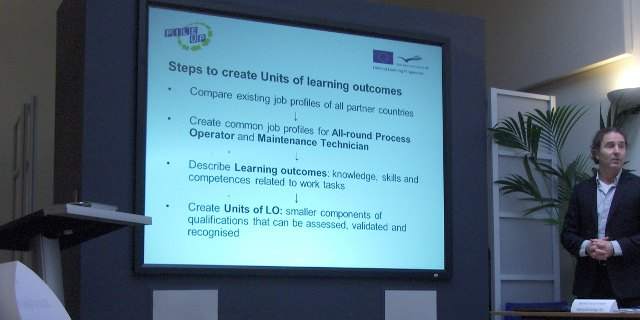 Manfred Van De Kreeke (NL) presenting the steps to create Units of Learning Outcomes.