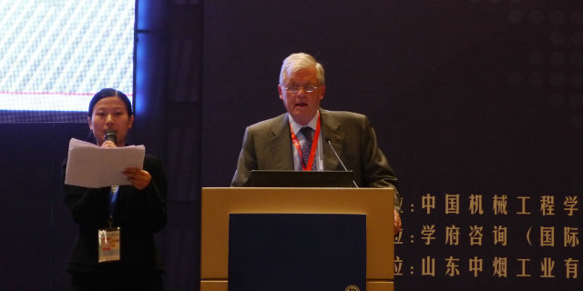 Mr. Guido Walt, Chaiman of the World Maintenance Forum, focussing on